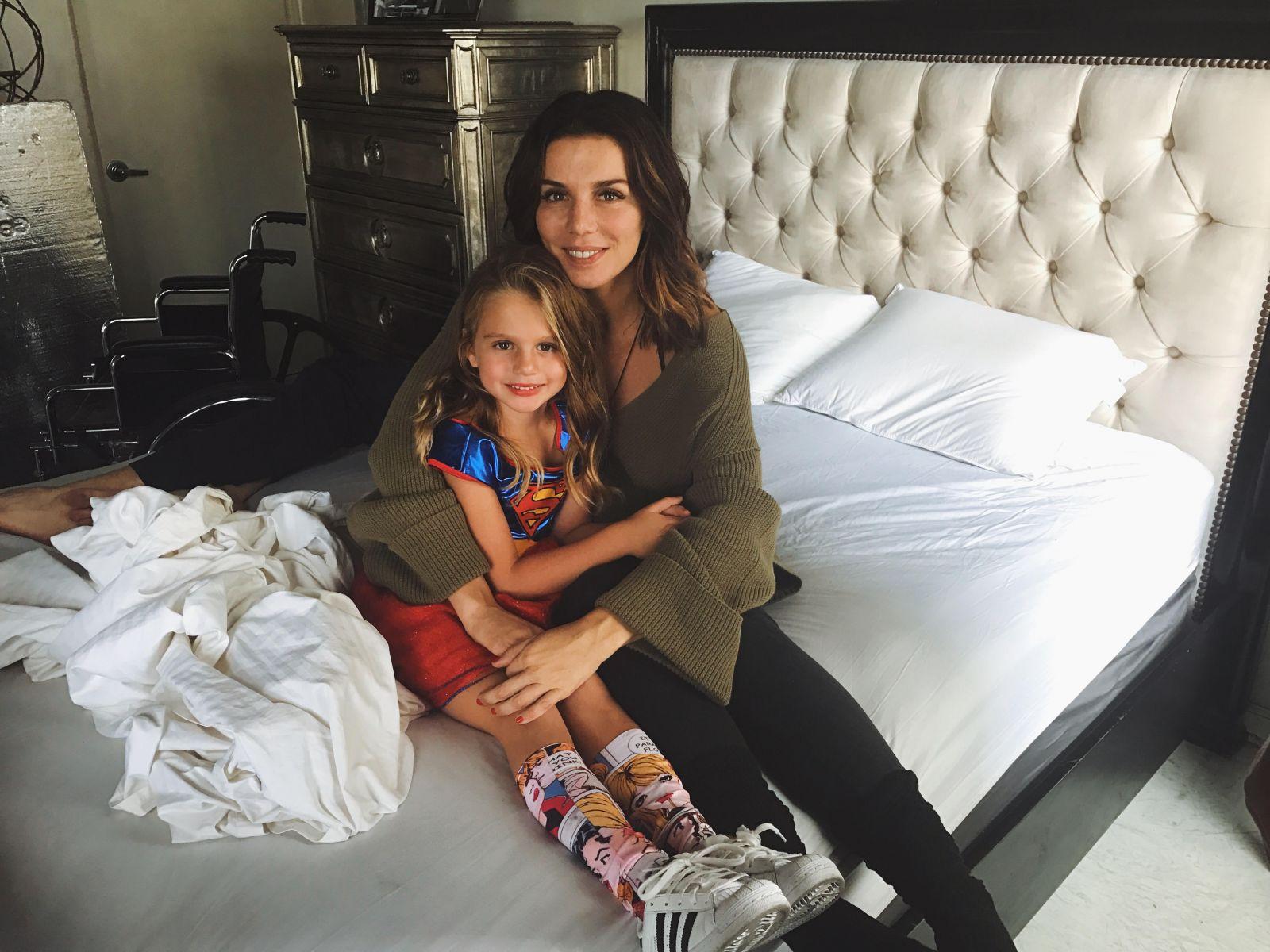 Анна Седокова и ее младшая дочь Моника