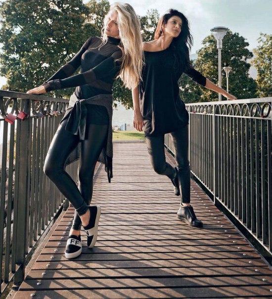 Вера Брежнева и Равшана Куркова снялись в стильной фотосессии для модного глянца