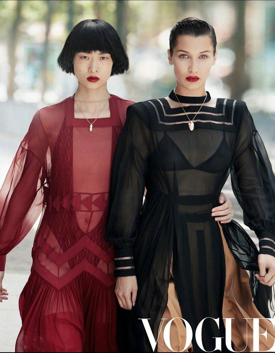 Просто восхитительно: Белла Хадид с новой стрижкой снялась для китайского глянца