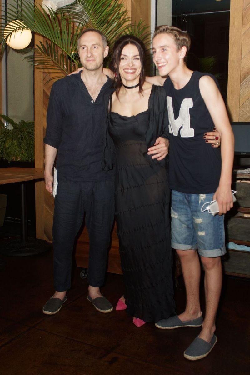 Надежда Мейхер с мужем Михаилом Уржумцевым и сыном Игорем