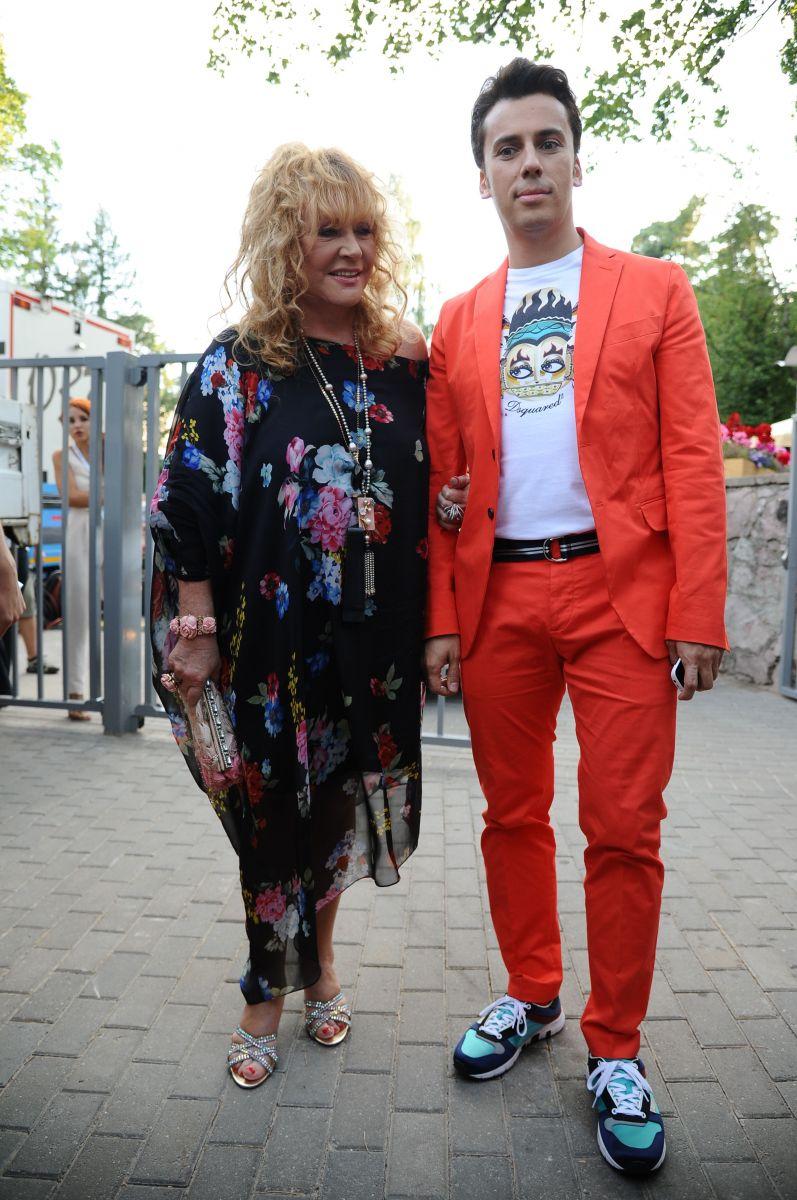 Алла Пугачева и Максим Галкин на открытии Новой волны