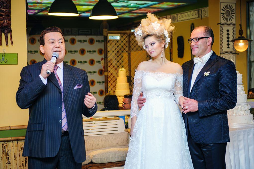 Иосиф Кобзон на свадьбе Лены Лениной