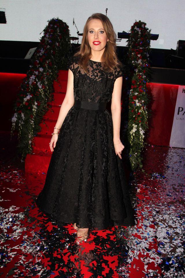 Собчак черное платье