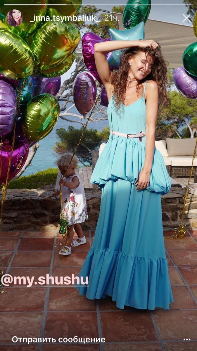 Инна Цимбалюк поделилась снимками с празднования дня рождения своей кудряшки-дочери