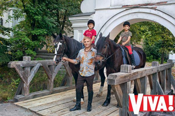Олег Скрипка и его семья