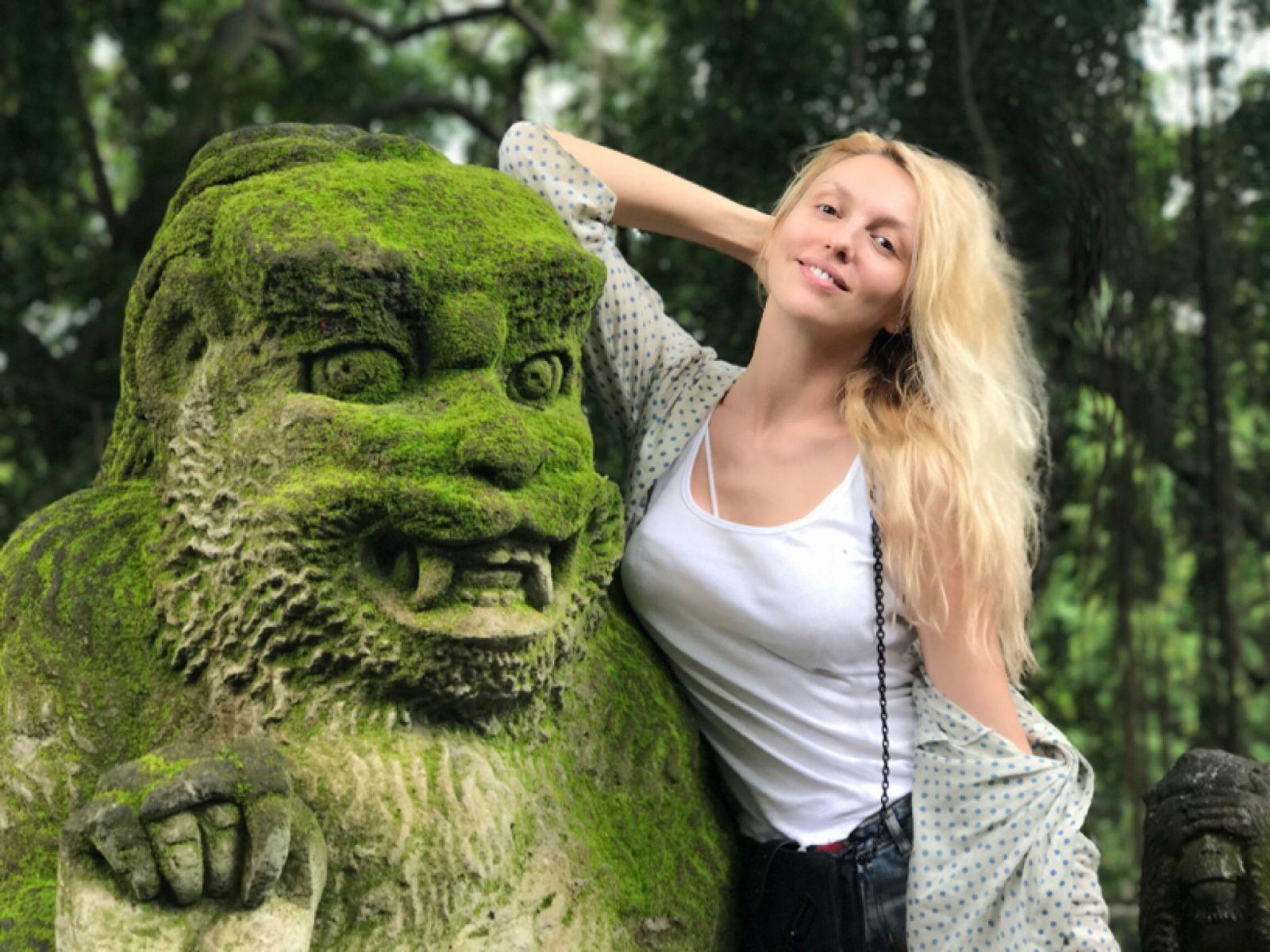 Оля Полякова на Балі