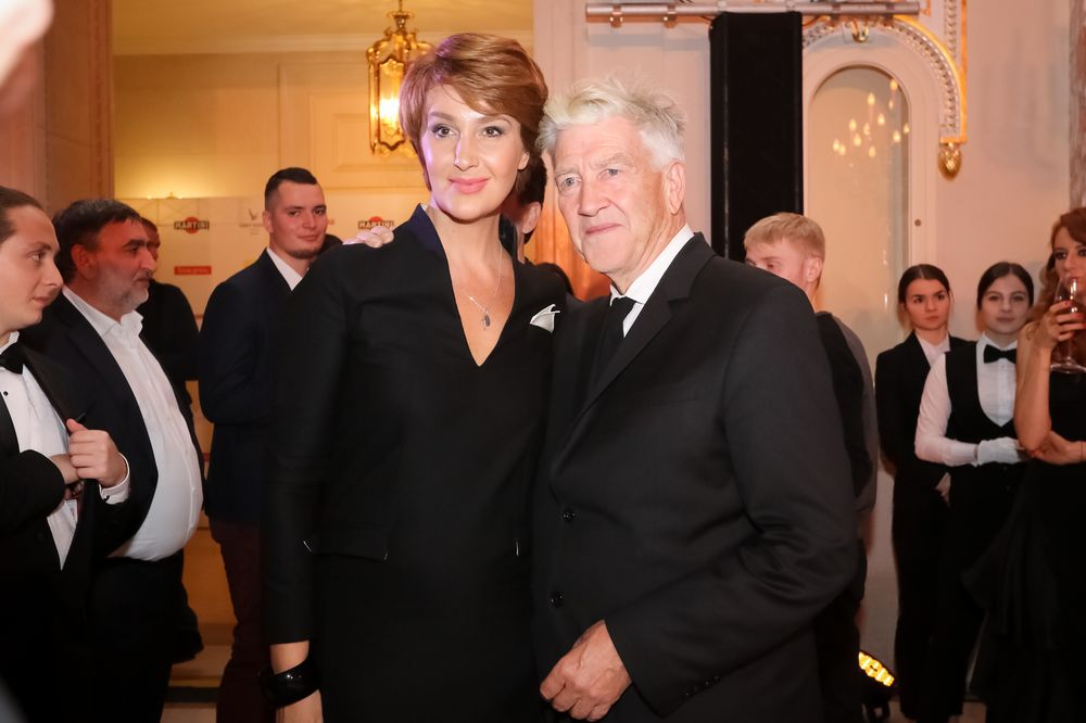 Звезды на встрече с Дэвидом Линчем в Киеве