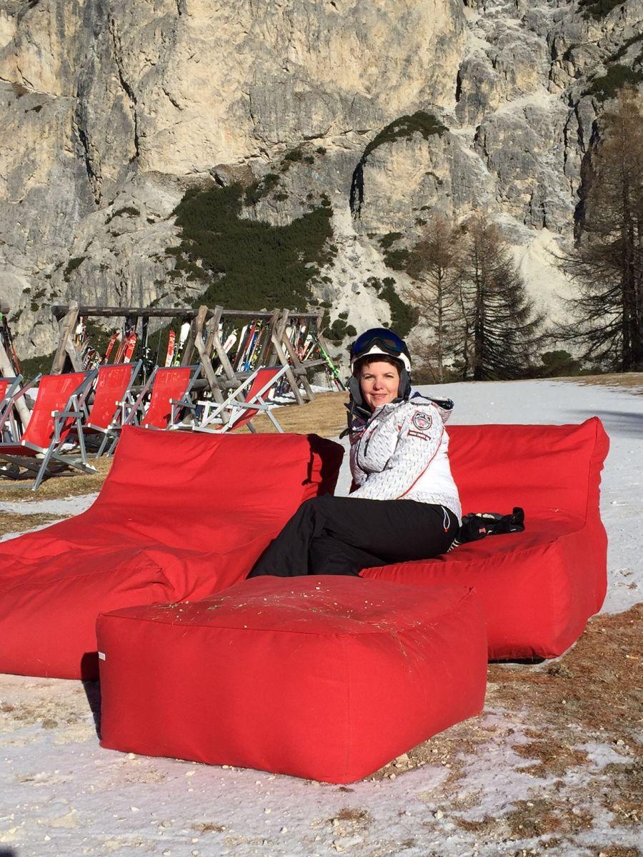 Елена Фроляк провела зимний отпуск в Италии