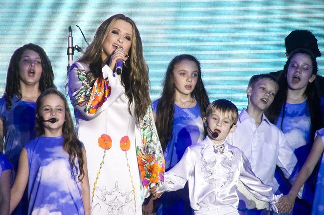 Наталья Могилевская с детьми