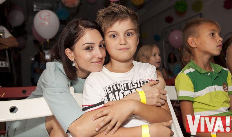 Лина Верес с сыном