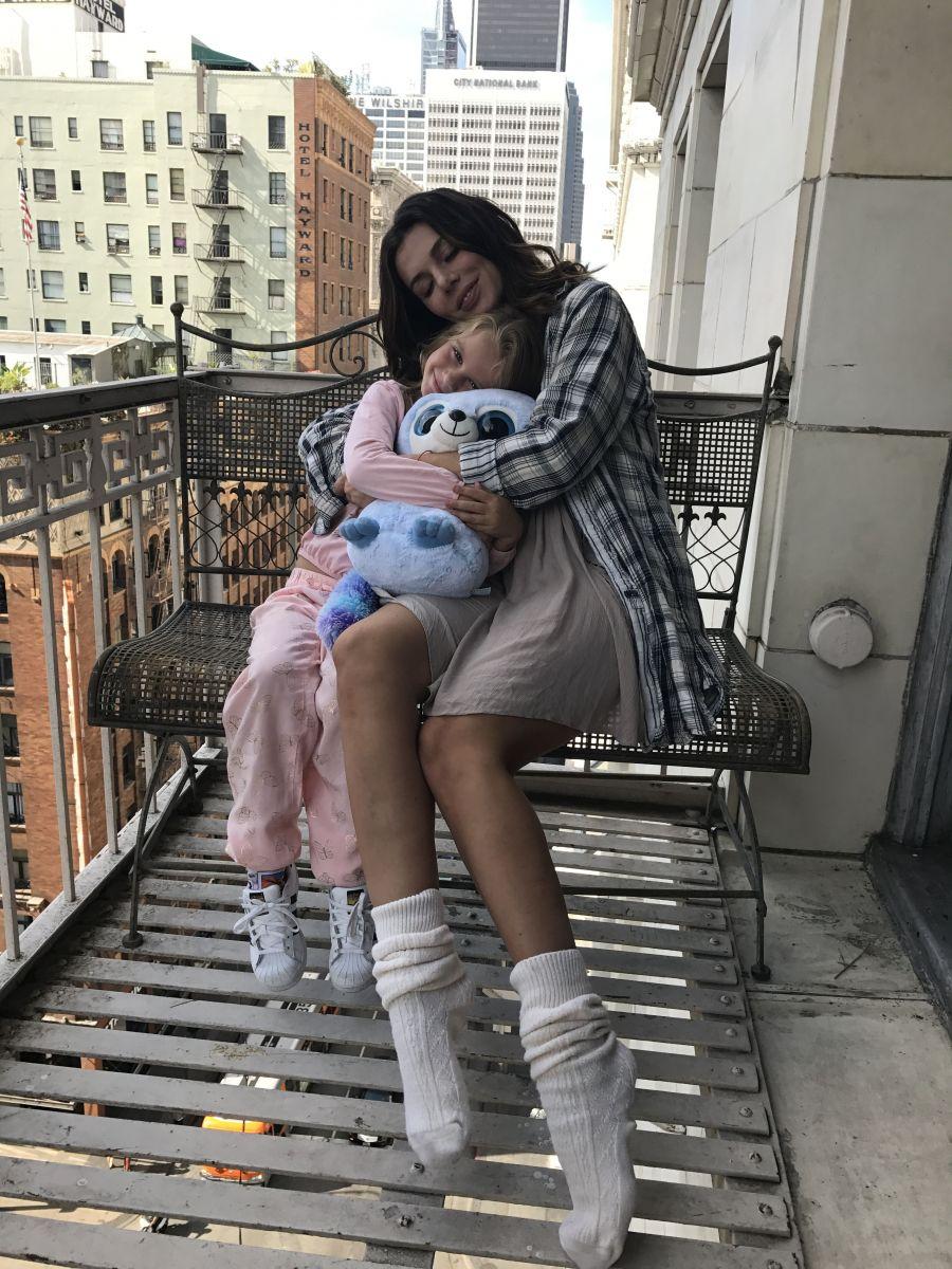 Анна Седокова и ее дочь Моника
