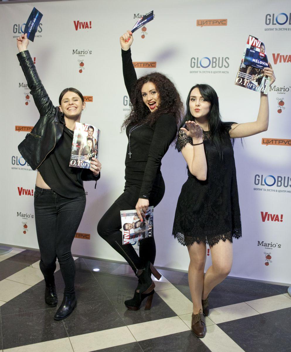 победительницы конкурса Libresse в фан-зоне Viva! Евровидение 2017 в ТЦ Globus
