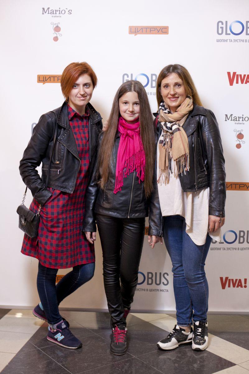 Инна Нагребельная (Edipresse Media Ukraine), Анна Хоменко (SCA HYGIENE UKRAINE LLC) с дочерью Дашей