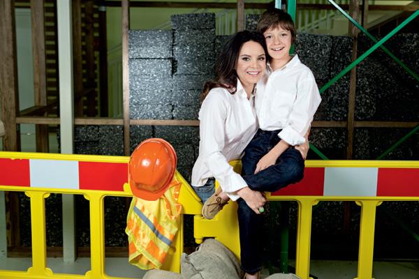 Лилия Подкопаева с сыном Вадимом