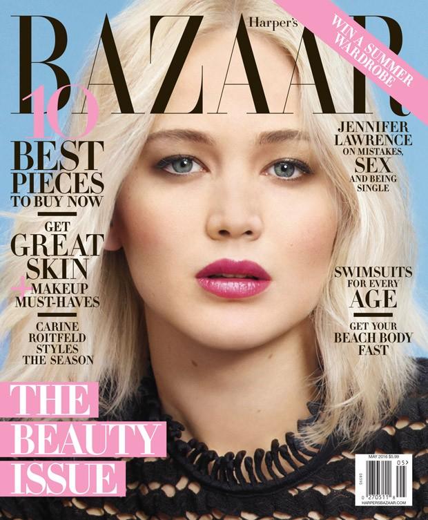 Весення нежность: Дженнифер Лоуренс блистает на страницах Harper's Bazaar
