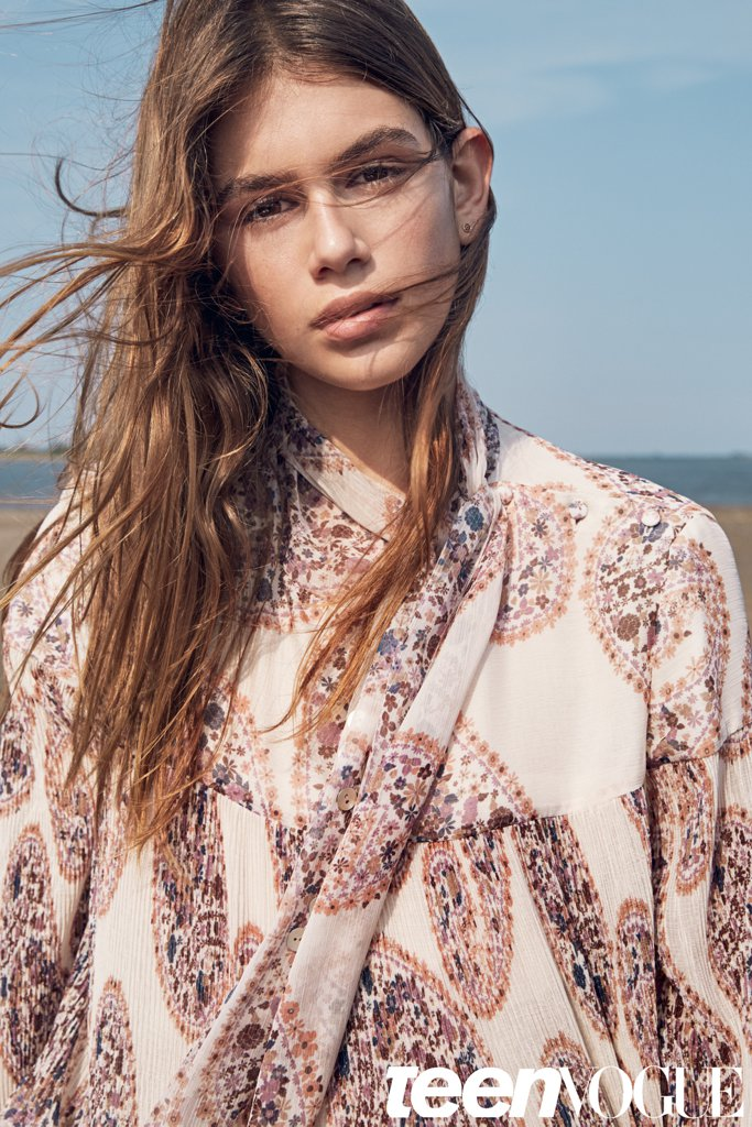 Кайя Гербер снялась в стильной фотосессии для Teen Vogue