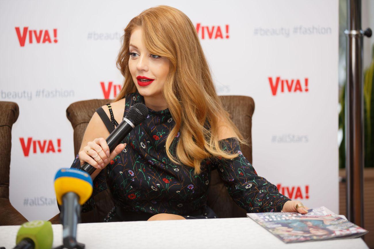 Тина Кароль на презентации нового номера Viva!