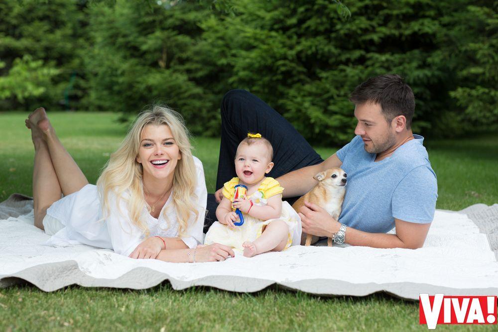 Ириша Блохина с мужем и дочерью