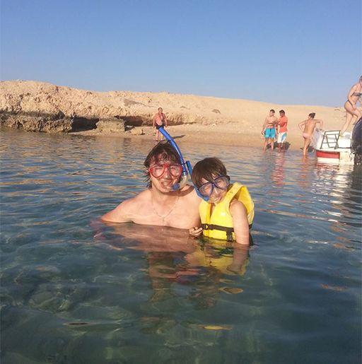 Сергей Притула с сыном отдохнули в Египте