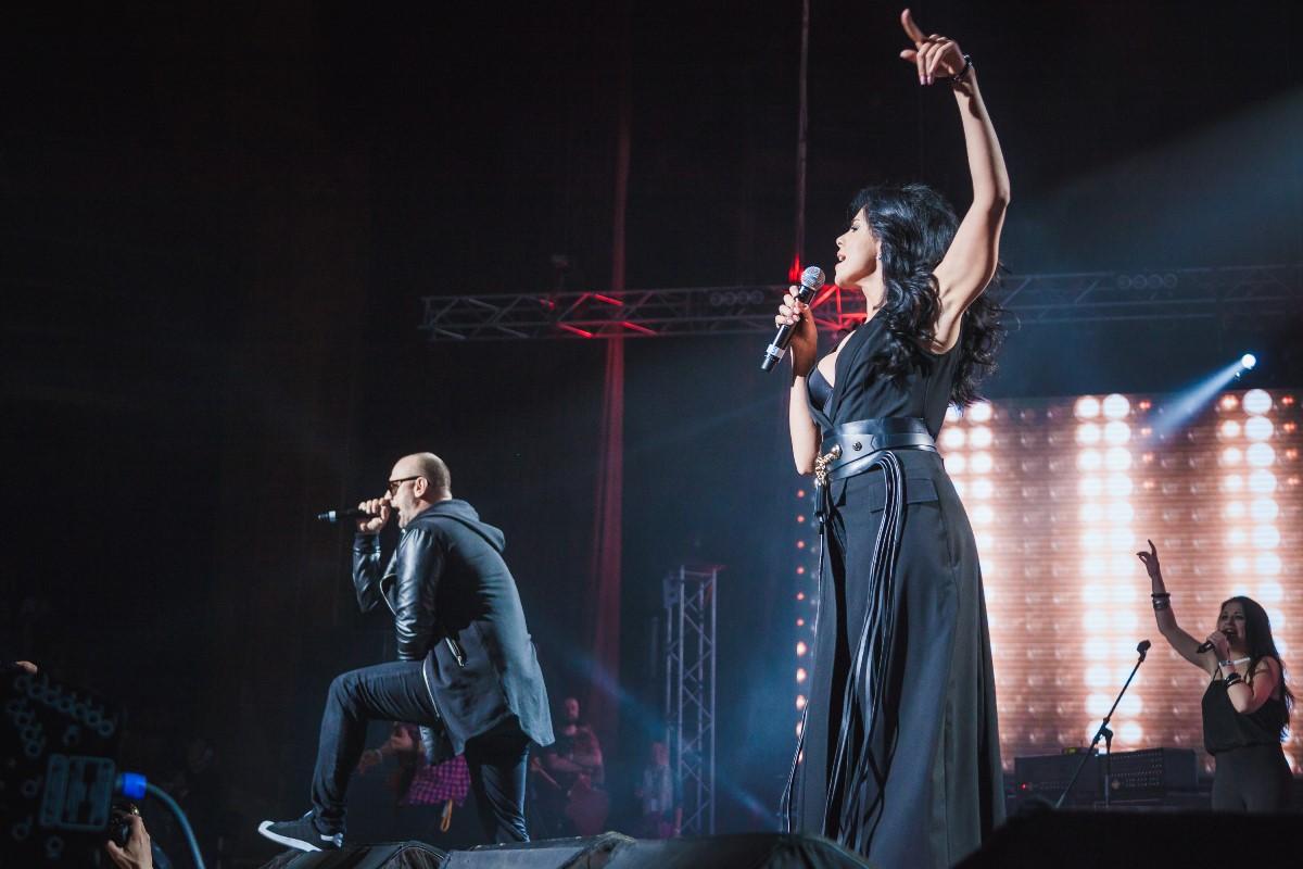 Потап и Настя на концерте памяти Кузьмы Скрябина
