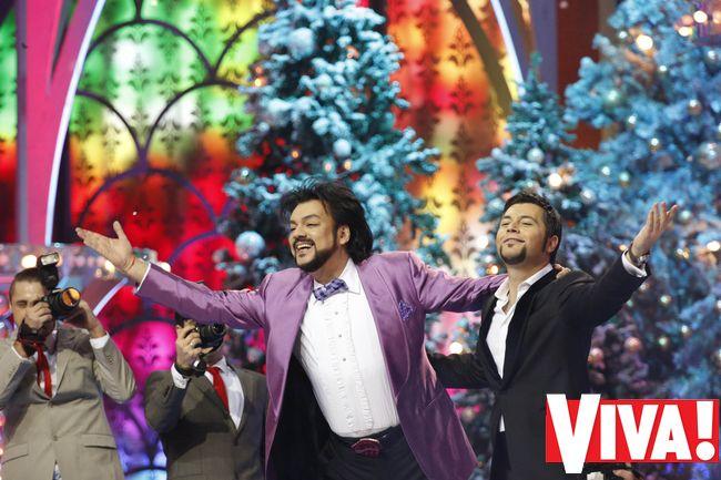 Филипп Киркоров и Алексей Чумаков Голубой огонек 2014 фото