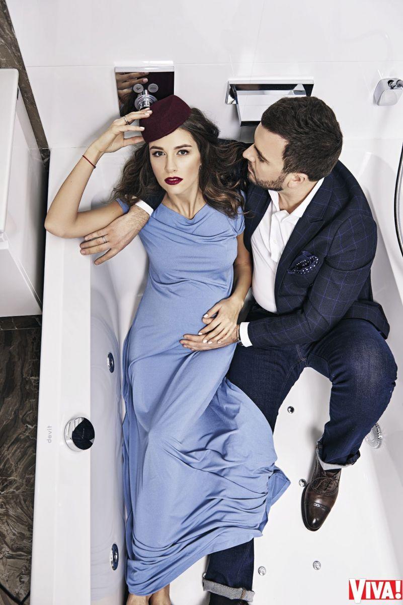 Григорий Решетник и его жена Кристина в фотосессии для Viva!