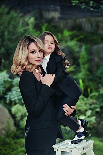 Светлана Лобода и ее дочь Евангелина. Фотосессия для журнала Viva!