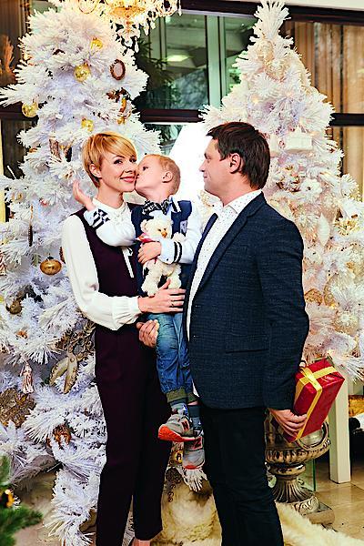 Марина Леончук с семьей