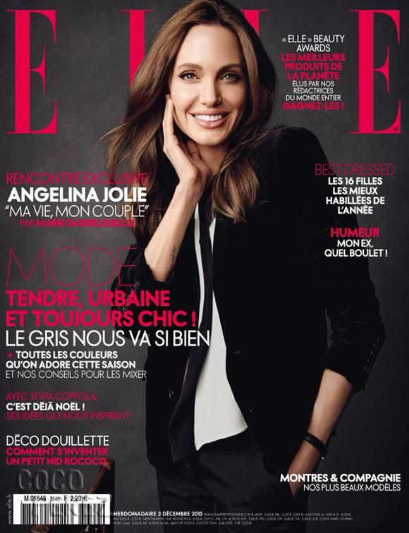Улыбчивая и счастливая Анджелина Джоли появилась на обложке французского глянца