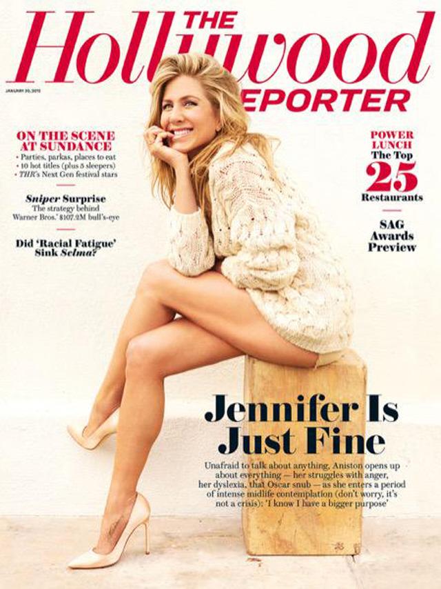 """Звездная обложка: Дженнифер Энистон снялась для """"The Hollywood Reporter"""""""