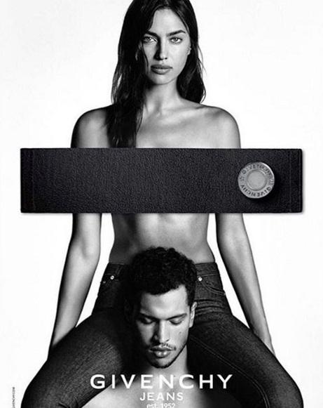 Ирина Шейк снялась топлес для рекламы Givenchy