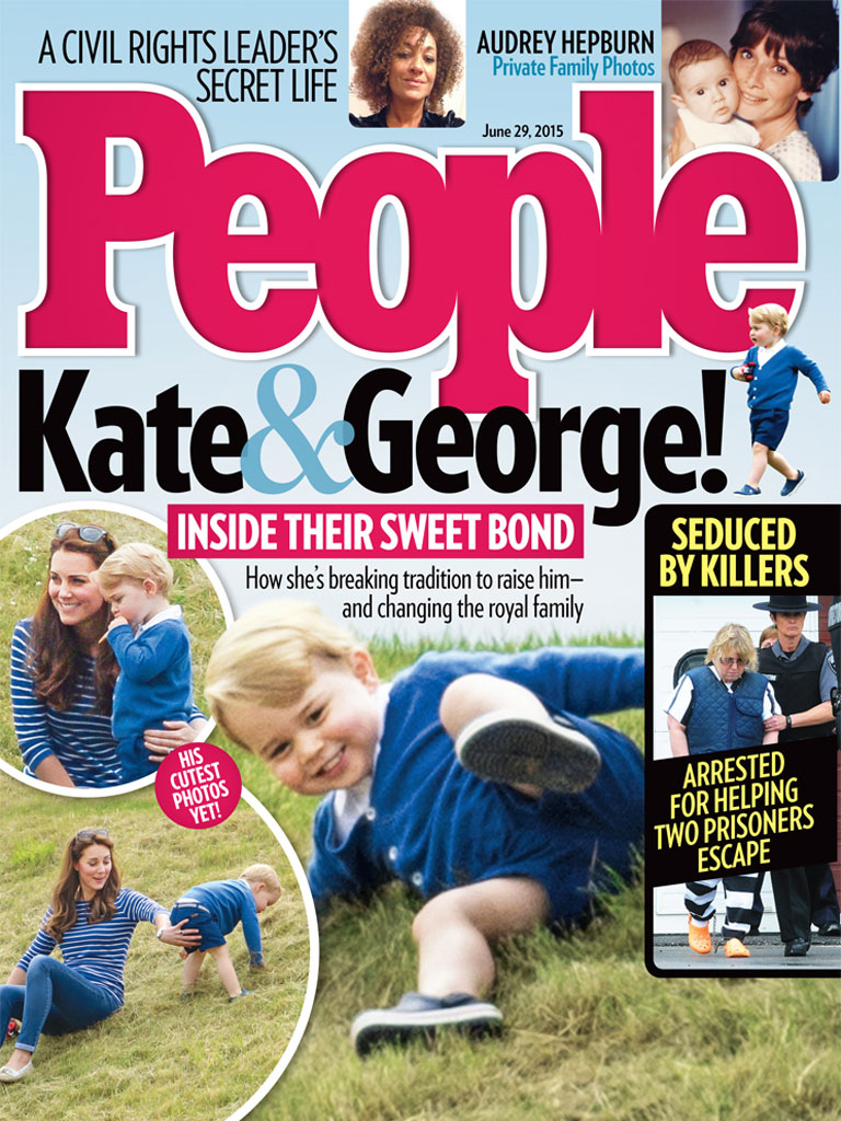 Кейт Миддлтон и принц Георг украсили обложку People