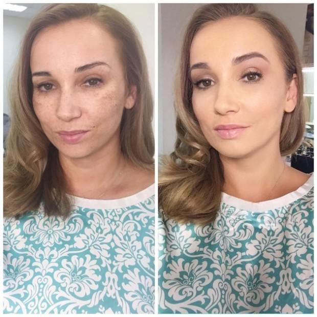 Анфиса Чехова до и после макияжа
