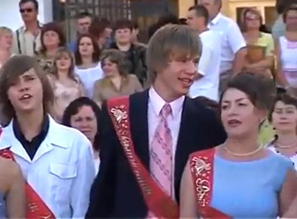 В сеть попало раритетное видео Ивана Дорна с его выпускного