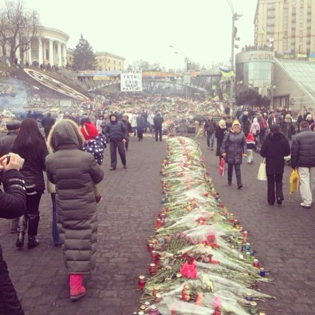 Татьяна Котова Киев Евромайдан фото 2014