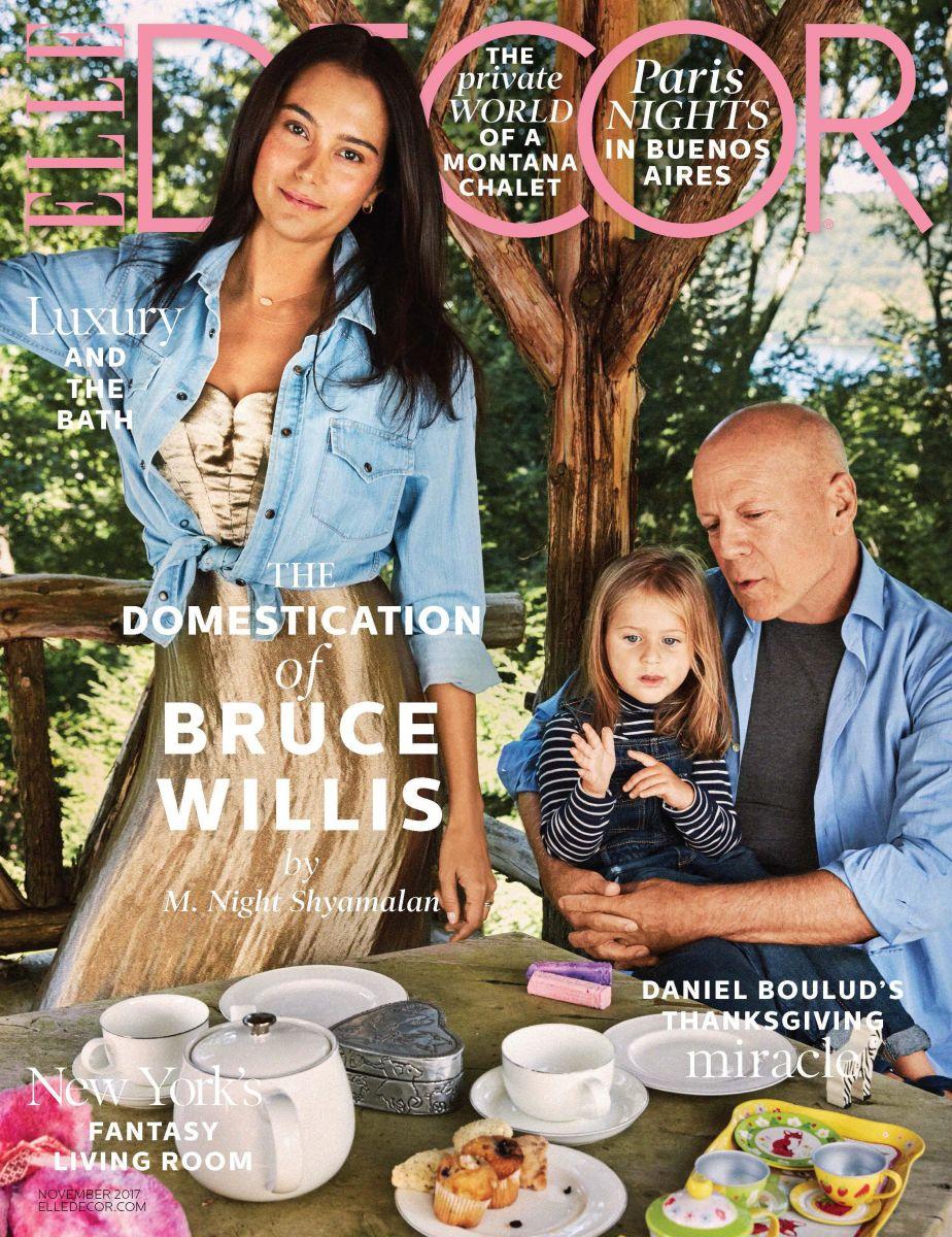 По-семейному: Брюс Уиллис с женой и дочерью снялся для обложки глянца