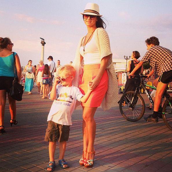 Татьяна Денисова и ее сын Лев