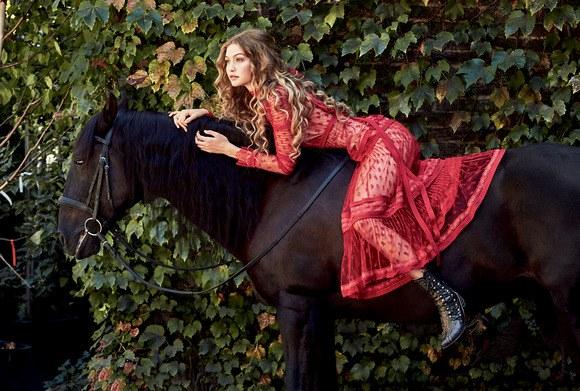 Романтичная Джиджи Хадид снялась в нежной фотосессии для глянца