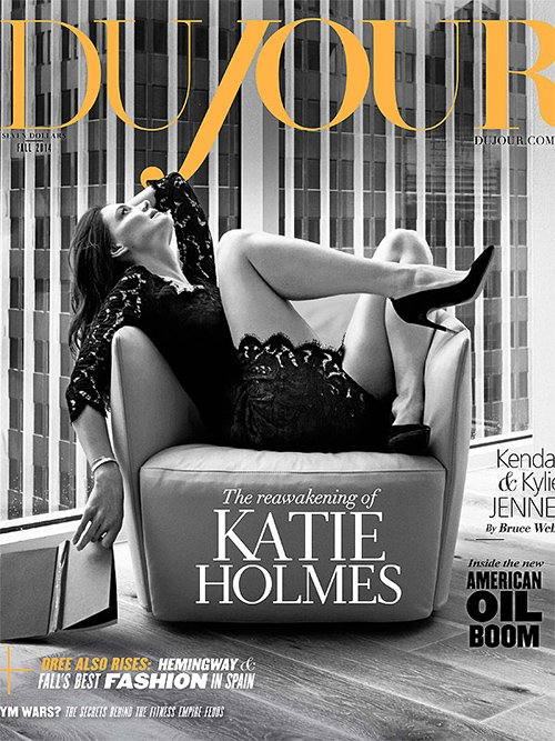 Кэти Холмс обнажила стройные ножки на обложке глянца