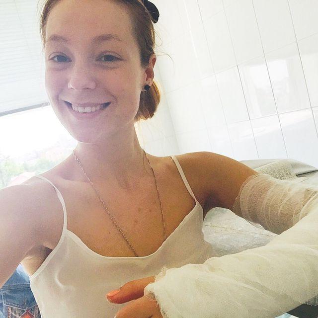 Светлана Тарабарова упала с велосипеда