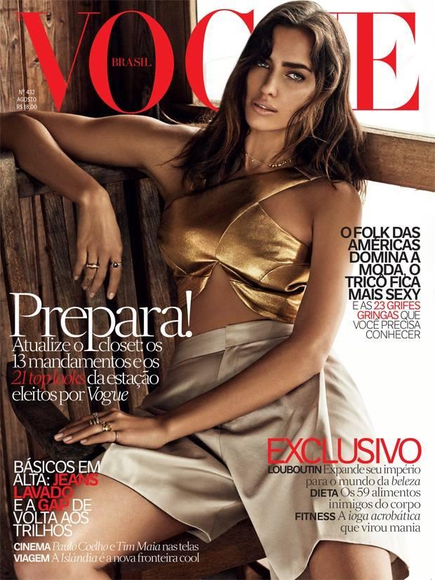 Ирина Шейк украсила обложку Vogue