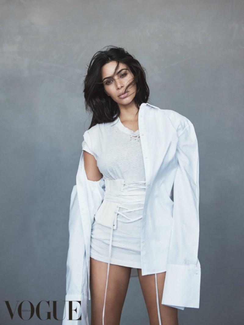 Ким Кардашьян блистает на обложке австралийского Vogue