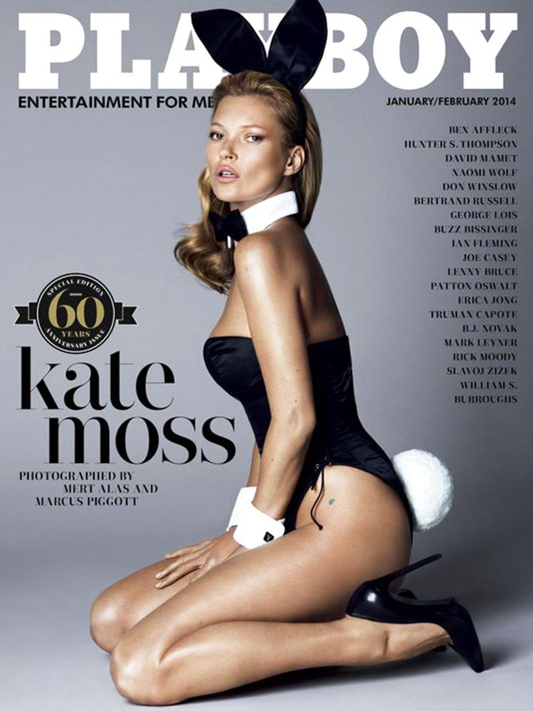 Кейт Мосс Playboy декабрь 2013 год