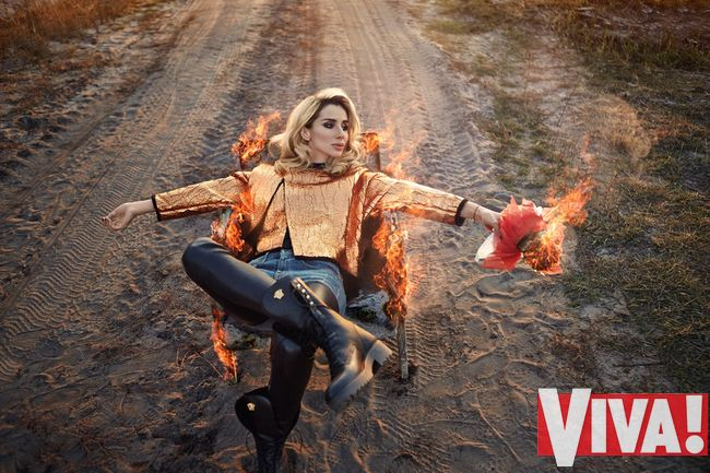 Loboda в фотосессии для Viva!