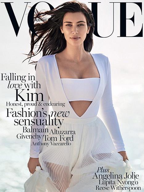 Ким Кардашьян снялась для австралийского Vogue