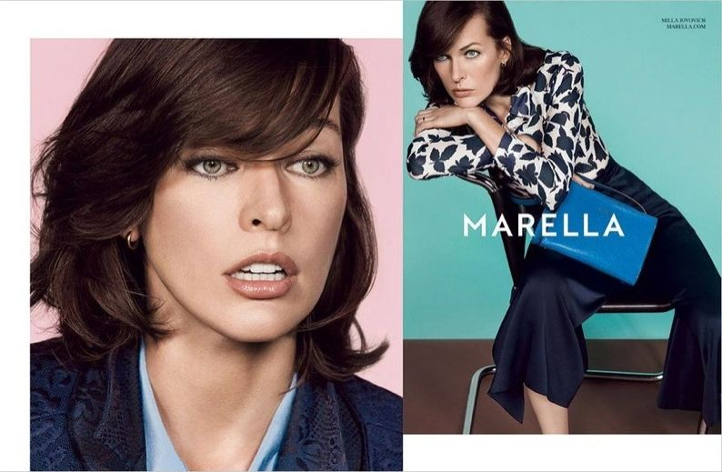 Милла Йовович в рекламной кампании Marella