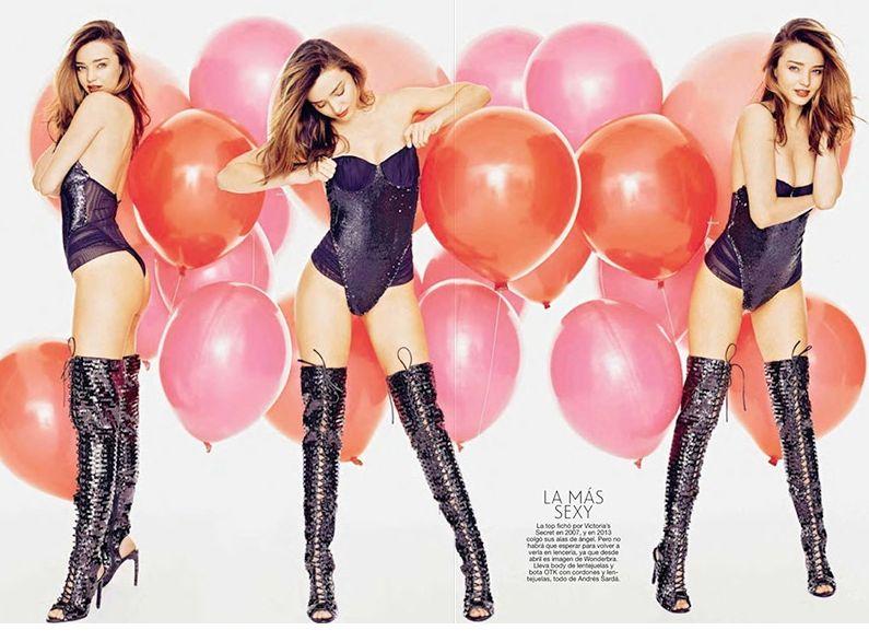 Миранда Керр в сексуальных нарядах демонстрирует длинные ножки