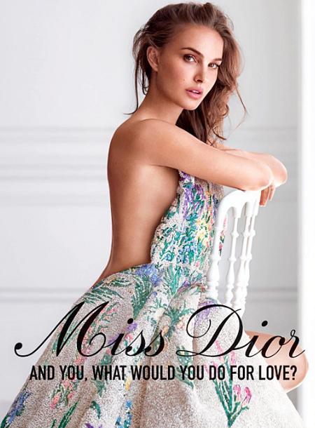 Натали Портман впервые разделась в рекламе Dior