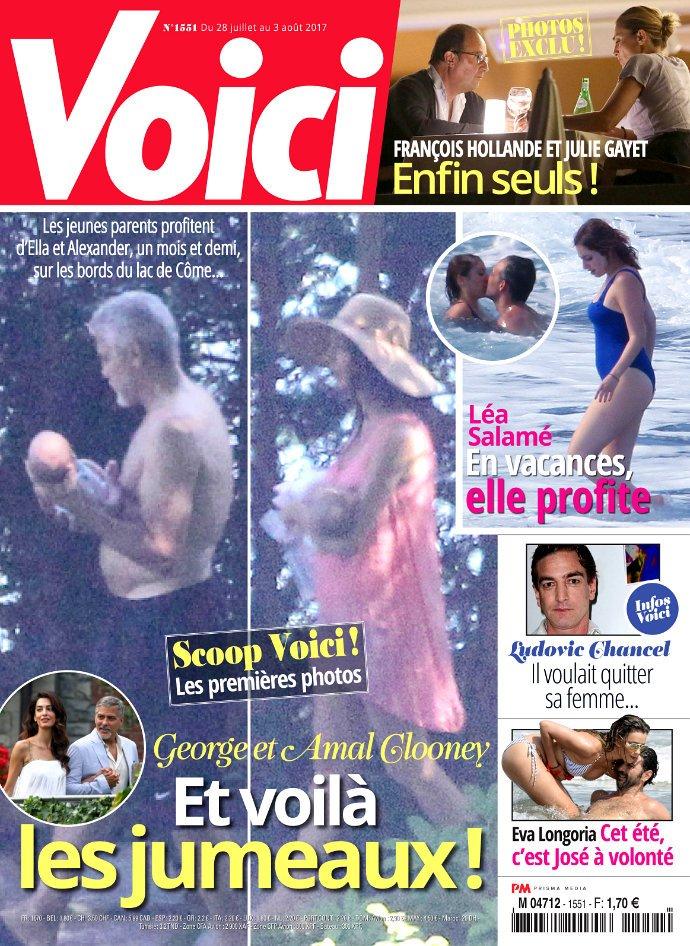 Молодой отец в ярости: Джордж Клуни хочет судиться с изданием, опубликовавшим первое фото его детей