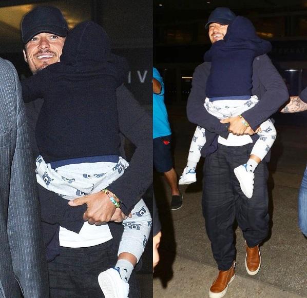 Папины объятия: снимки Орландо Блума с сыном Флинном растрогали фанатов